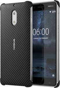 Taschen, Hüllen - Nokia Carbon Fiber Design Case CC 802 Hintere Abdeckung für Mobiltelefon Kohlefaser Onyx Black für Nokia 6 (1A21M9800VA)  - Onlineshop JACOB Elektronik