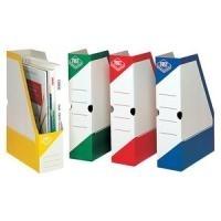 FAST Archiv-Stehsammler, Karton, weiß-rot, mit ...