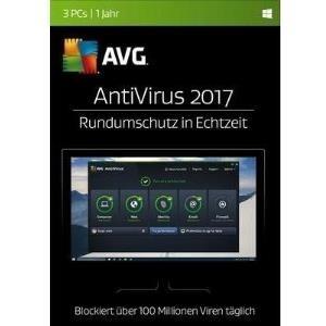 AVG AntiVirus 2017 Vollversion, 3 Lizenzen Wind...