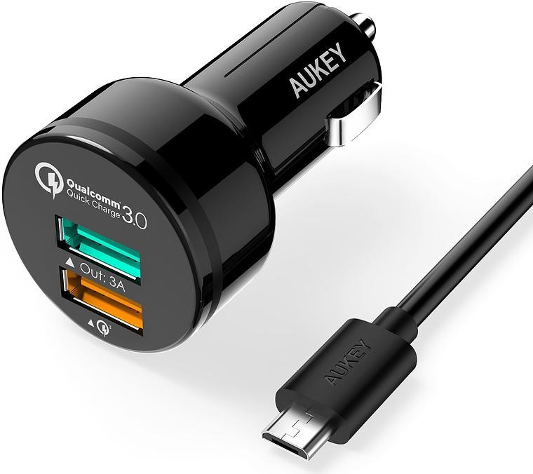 AUKEY CC-T7 Car Charger 2xUSB Quick Charge 3.0 (CC-T7)