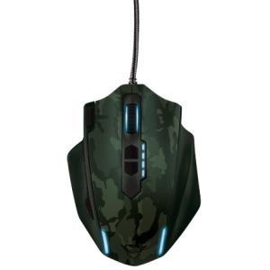Trust GXT 155 Gaming - Maus - 11 Tasten - verkabelt - USB - grünes Tarnmuster (20853)