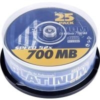 Platinum CD-R 80 Rohling 700 MB 102565 25 St. S...