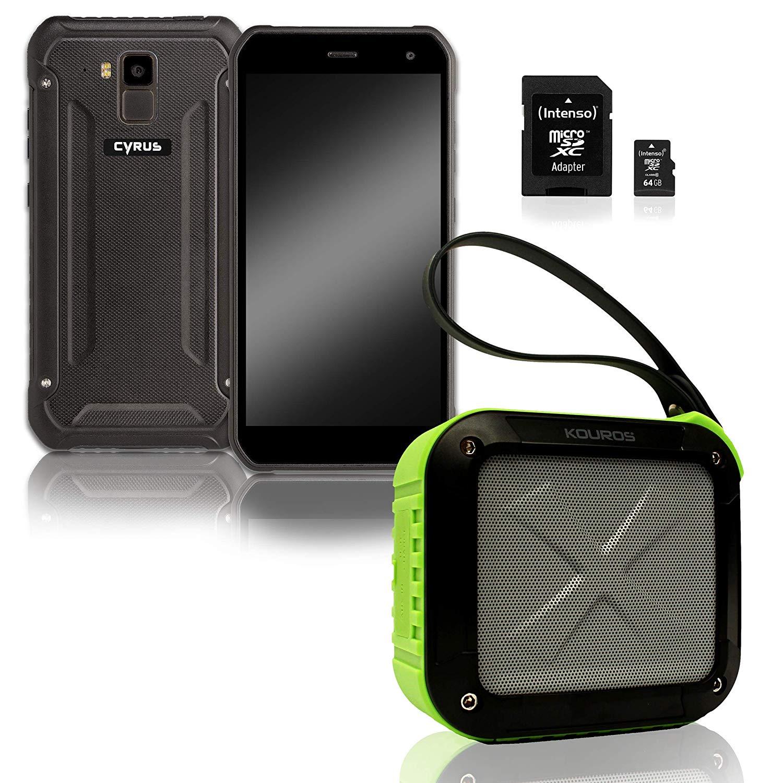 Outdoor Telefone - Cyrus Outdoor Smartphone CS40 Freestyle Kouros Bluetooth Box Schwarz Grün Intenso 64GB microSDXC Speicherkarte (CYR111015)  - Onlineshop JACOB Elektronik