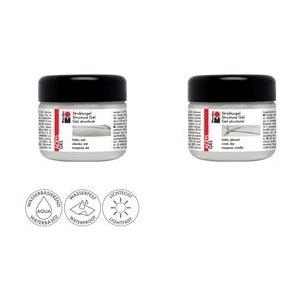 Marabu Strukturgel, 225 ml, farblos glänzend mit bis zu 20% Marabu Acrylfarben mischbar, wasserfest, - 1 Stück (122825103)