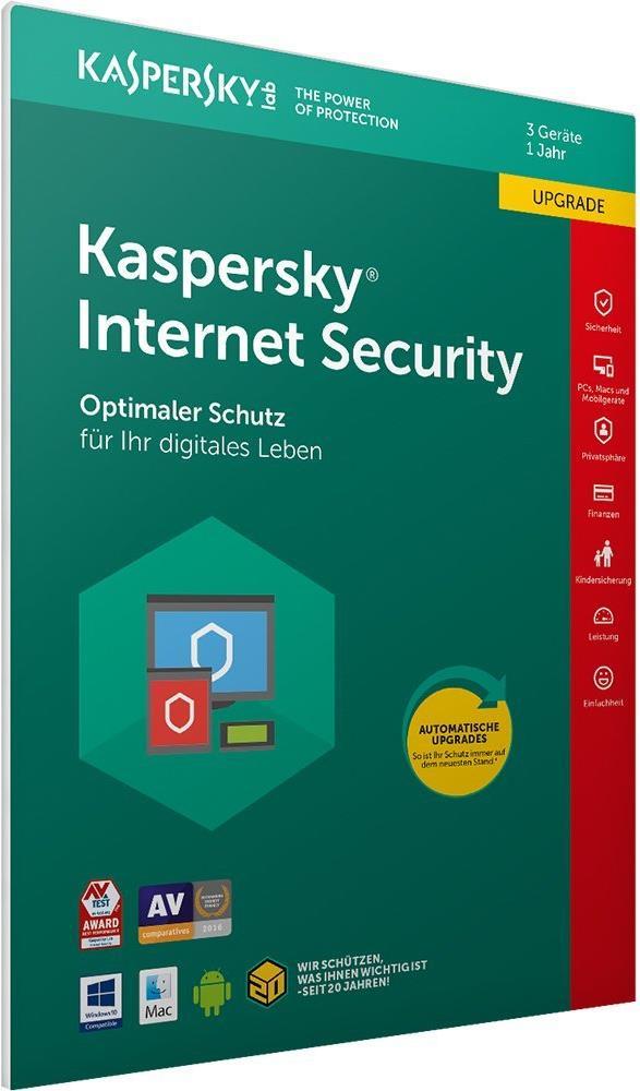 Kaspersky Lab Internet Security 3Benutzer 1Jahr...