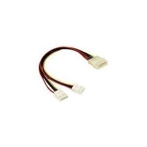 C2G Y Cable - Netz-Splitter - interne Stromversorgung, 4-polig (M) - bis - 4-Pin-Mini-Stromversorgungsstecker (W) (81846)