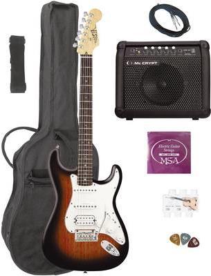 MSA Musikinstrumente E-Gitarren-Set ST-6 Sunbur...