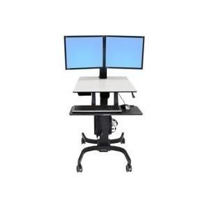 Ergotron 2fach Monitor-Rollwagen 25,4cm (10 ) - 61,0cm (24 Rotierbar WorkFit-C jetztbilligerkaufen