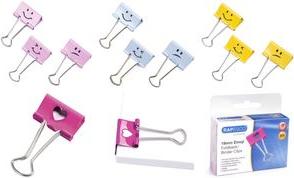 Emoji hellblau 32 mm B RAPESCO Foldback-Klammern,