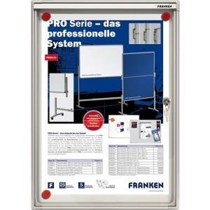 FRANKEN Schaukasten X-tra!Line, 1 x DIN A4, Innenbereich magnethaftende und trocken abwischbare Schreiboberfläche (FSA1)