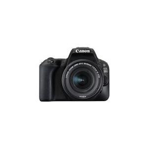 Spiegelreflexkameras - Canon EOS 200D Digitalkamera SLR 24,2 MPix APS C 1080p 60 BpS 3x optischer Zoom EF S 18 55mm IS STM Objektiv Wi Fi, Bluetooth, NFC Schwarz (2250C002)  - Onlineshop JACOB Elektronik
