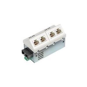 MICROSENS Fast Ethernet Installation Switch 45 x 45 - Switch - L2+ - verwaltet - 6 x 10/100 - Plugin-Modul (MS450156M)