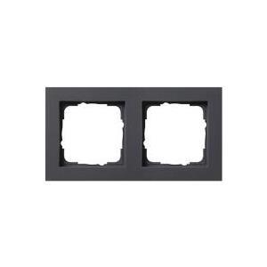 GIRA 2fach Rahmen E2, Standard 55 Anthrazit 0212 23 jetztbilligerkaufen