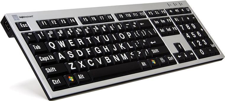 Logickeyboard LKB-LPRNTWB-AJPU USB Französisch Schwarz - Silber (LKB-LPRNTWB-AJPU-FR)