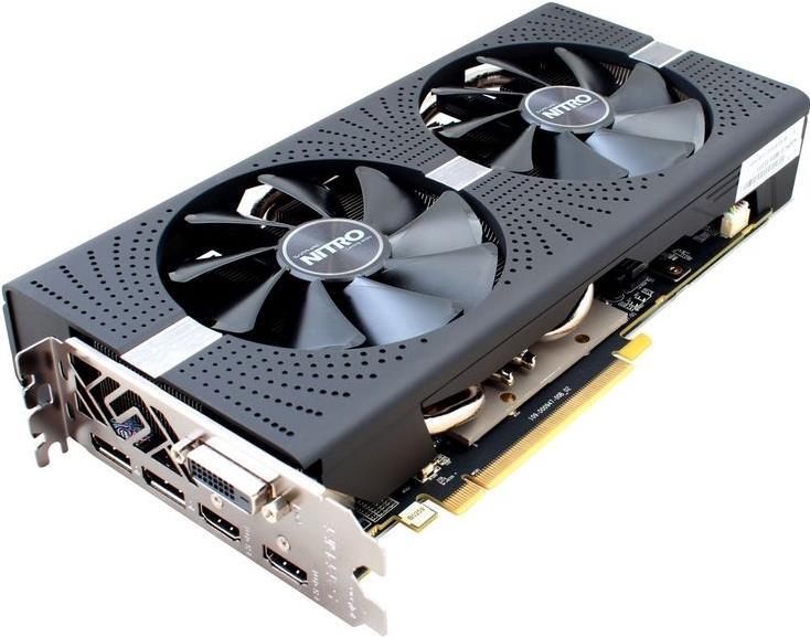 Sapphire NITRO+ RX 580 - Grafikkarten - Radeon RX 580 - 4 GB GDDR5 - PCIe 3.0 x16 - DVI, 2 x HDMI, 2 x DisplayPort - Lite Retail