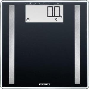 Soehnle Scale Shape Sense Control 100 Elektronische Personenwaage Quadratisch Schwarz (63857)