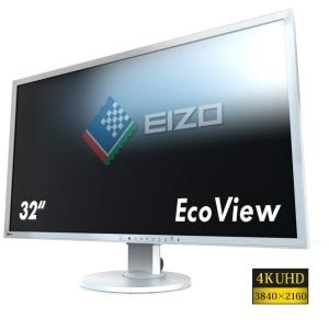 EIZO FlexScan EV3237-GY - LED-Monitor - 80cm (31.5) - 3840 x 2160 4K - IPS - 300 cd/m2 - 1000:1 - 5 ms - HDMI, DVI-D, 2xDisplayPort - Lautsprecher - Grau (EV3237-GY)