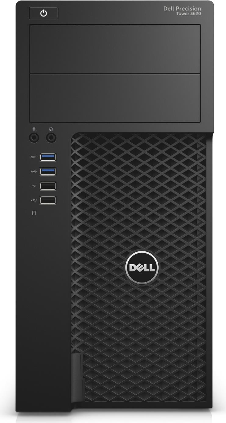 Dell Precision Tower 3620 - MDT - 1 x Core i7 6700 / 3.4 GHz - RAM 8 GB - SSD 256 GB - DVD-Writer - Quadro P600 - GigE - Win 7 Pro 64-bit (mit Win 10 Pro 64-bit Lizenz) - vPro - Monitor: keiner - BTS