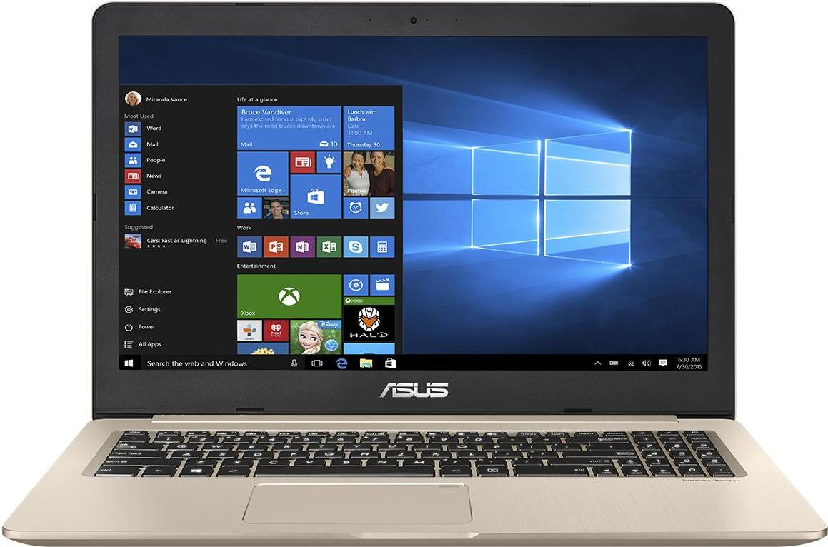 ASUS VivoBook N580VD-FI033T 2.8GHz i7-7700HQ 15.6 3840 x 2160Pixel Gold Notebook (90NB0FL1-M00410)