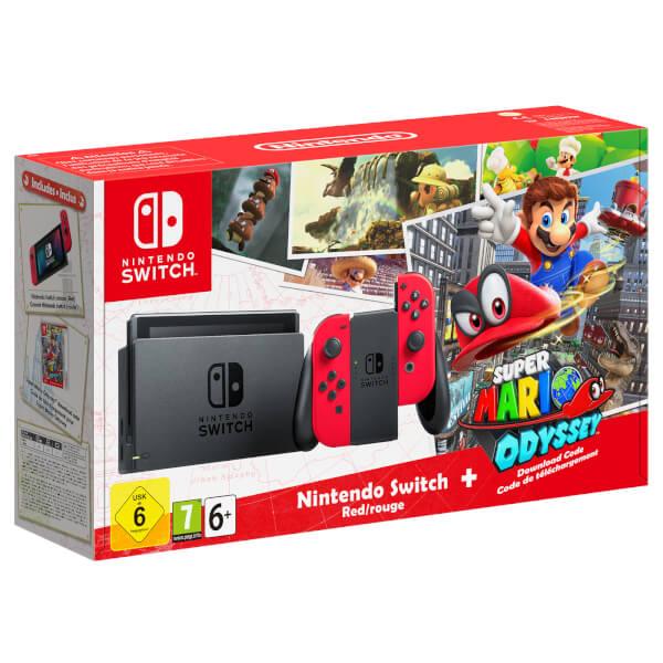 Nintendo Switch with Red Joy-Con - Super Mario ...