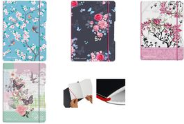 Notizheft my.book flex Ladylike Flowers, A5 abgerundete Ecken, Verschluss- und Haltegummi in pink, - 1 Stück (50021512)
