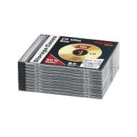 1x10 Hama CD-Leerhülle Slim-Line transp./schwarz 51275 (51275)
