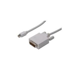 Digitus ASSMANN - DisplayPort-Kabel - Dual Link - Mini DisplayPort (M) - DVI-D (M) - 2 m (DisplayPort 1.1a) - geformt, Flügelschrauben - weiß - für Apple iMac, Mac mini, Mac Pro, MacBook, MacBook Air, MacBook Pro (AK-340305-020-W)