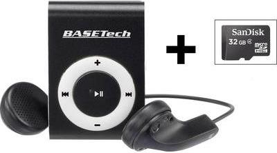 CD, MP3 Player - Basetech MP3 Player BT MP 100 32 GB Schwarz Weiß Befestigungsclip (1590797)  - Onlineshop JACOB Elektronik