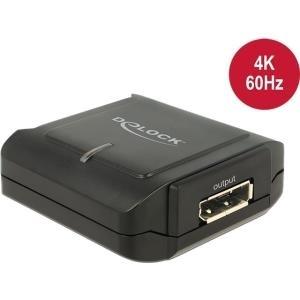 DeLock Displayport 1,2 Repeater 4K 60 Hz - Repeater - DisplayPort - 20-poliger DisplayPort / 20-poliger DisplayPort - bis zu 40 m (11464)