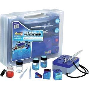 Revell Airbrush Basic-Set mit Kompressor Regelu...