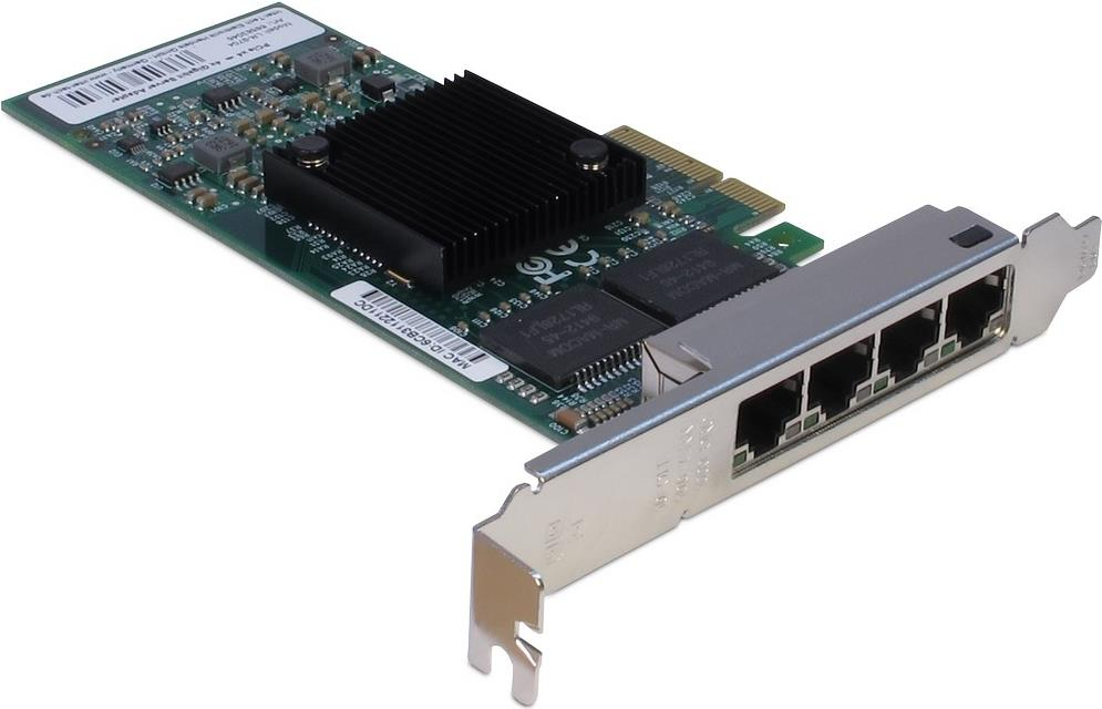 INTER-TECH LR-9704 Quad-LAN-Adapter Intel 82580...