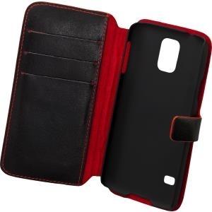 LUCKYFINISH Book Case für Samsung G900 Galaxy S5 BUFFALO Black (14318) - broschei