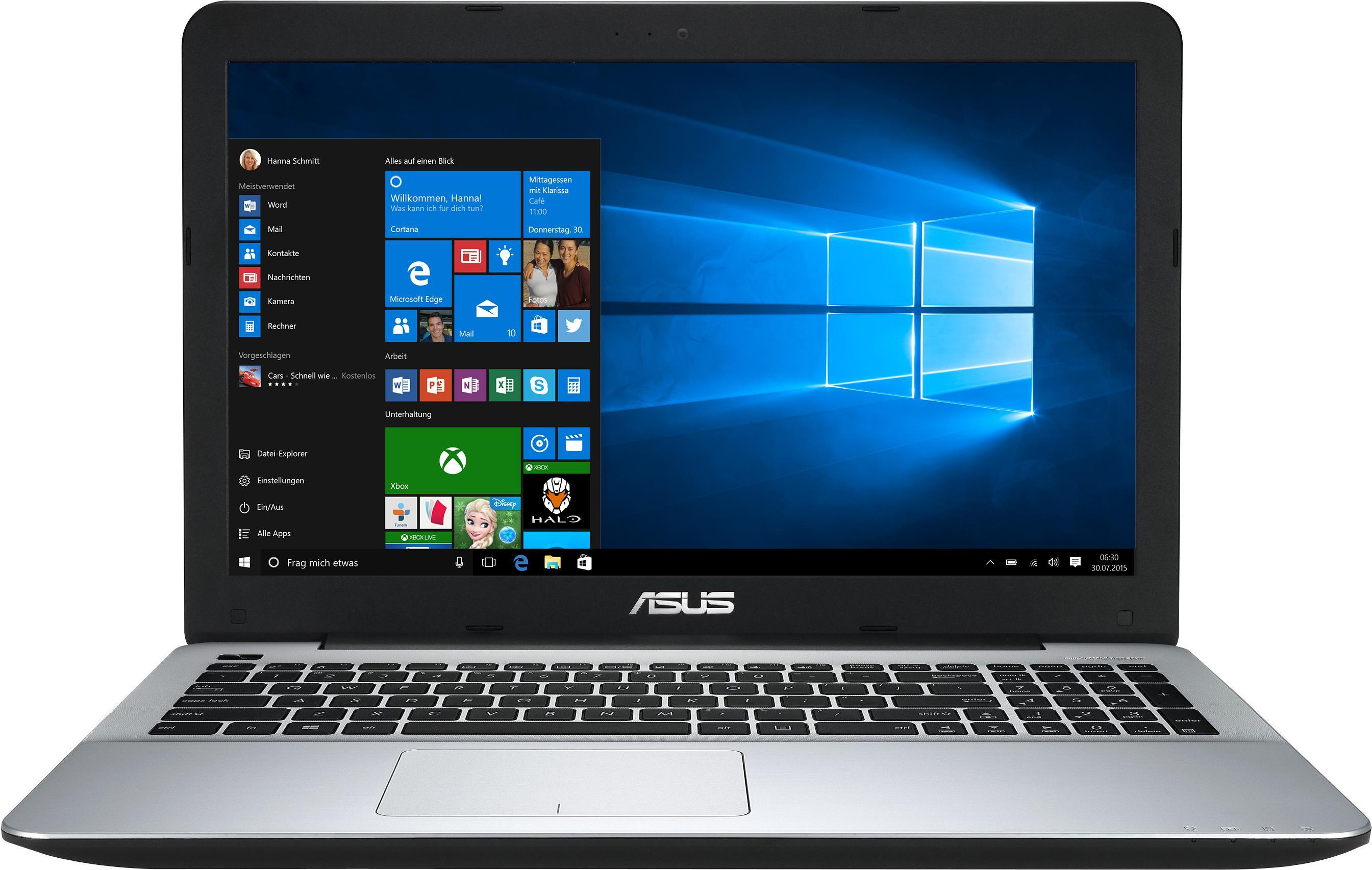 Notebooks, Laptops - ASUS F555QG DM200T 2.4GHz A10 9600P 15.6' 1920 x 1080Pixel Schwarz Grau Notebook (90NB0D42 M03070)  - Onlineshop JACOB Elektronik