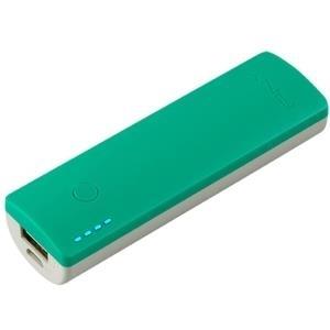 PNY PowerPack Curve 2600 - Ladegerät Li-Pol 2600 mAh - 1 A (USB) - auf Kabel: Micro-USB - Minze (P-B2600-1CURWM-RB)