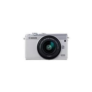 Systemkameras - Canon EOS M100 Digitalkamera spiegellos 24,2 MPix APS C 1080p 60 BpS 3x optischer Zoom EF M 15 45 mm Objektiv Wi Fi, NFC, Bluetooth weiß (2210C049)  - Onlineshop JACOB Elektronik
