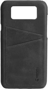 Taschen, Hüllen - Krusell Sunne 2 Card Cover Hintere Abdeckung für Mobiltelefon Echtes Vintage Leder Vintage Black für Samsung Galaxy S9  - Onlineshop JACOB Elektronik