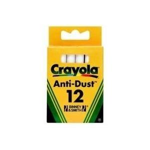 Crayola 12 white Chalks - Weiß - Rund - Kind - Junge/Mädchen - Box (CR-0280)