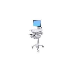 Ergotron StyleView Cart with LCD Pivot, 2 Drawers - Wagen für LCD-Display/Tastatur/Maus/CPU/Notebook/Barcodescanner (offene Architektur) Kunststoff, Aluminium, verzinker Stahl Bildschirmgröße: bis zu 61cm (bis 61,00cm (24) ) (SV43-13A0-0) jetztbilligerkaufen