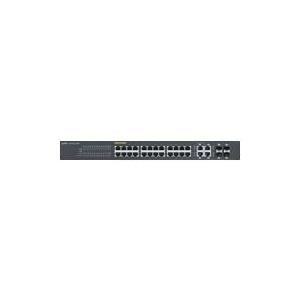 ZyXEL GS1920-24HP - Switch - verwaltet - 24 x 10/100/1000 (PoE+) + 4 x Kombi-Gigabit-SFP - Desktop, an Rack montierbar - PoE+ (GS1920-24HP-EU0101F)