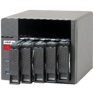 QNAP TS-563 Turbo NAS - NAS-Server - SATA 6Gb/s - RAID 0, 1, 5, 6, 10 - Gigabit Ethernet - iSCSI (TS-563-8G)