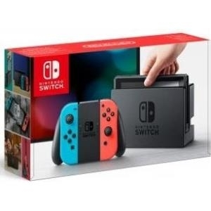 Nintendo Switch with Neon Blue and Neon Red Joy-Con - Spielkonsole - Full HD - 32GB Flash-Speicher - Schwarz, Neonrot, Neonblau (2500166)