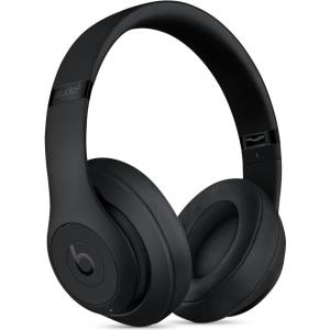 Apple Beats Studio3 Wireless - Kopfhörer mit Mikrofon - Full-Size - drahtlos - Bluetooth - aktive Rauschunterdrückung - Geräuschisolierung - Matt Black (MQ562ZM/A)