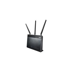 ASUS DSL-AC68U - Wireless Router - DSL-Modem - 4-Port-Switch - GigE - 802,11a/b/g/n/ac - Dualband (90IG00V1-BM3G00)